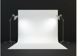 灯具和背景布摄影