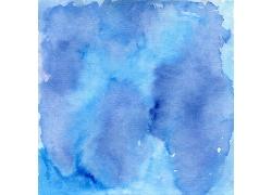 蓝色墨迹水彩背景