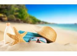 大海沙滩海星风光