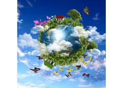 绿色环保爱护地球海报