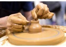 陶器制作手势