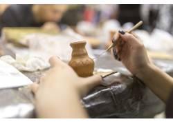 陶瓷花纹绘画