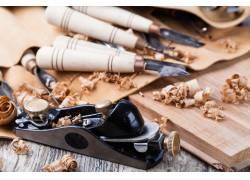 木雕工具和木屑