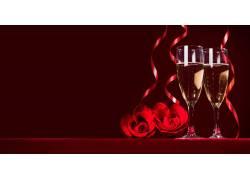 香槟与玫瑰花