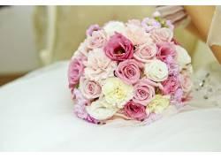 玫瑰花束特写
