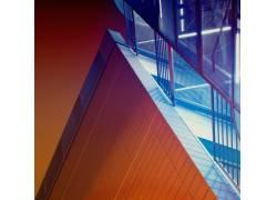 现代建筑的局部摄影