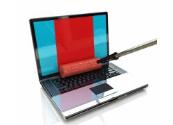 笔记本电脑与滚筒设计