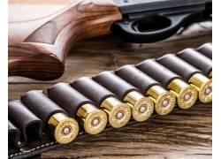 手枪和子弹摄影