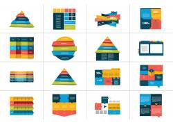 彩色立体信息图表设计