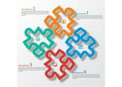彩色拼图信息图表