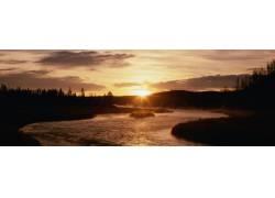 太阳下山摄影