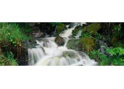 唯美溪水背景