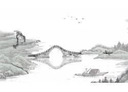 乡村河流与桥梁