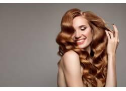 金发模特的笑容摄影