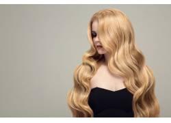 美丽的金发模特摄影