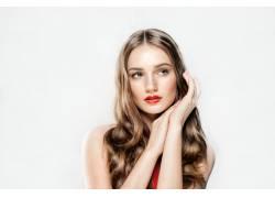 红唇美发模特摄影