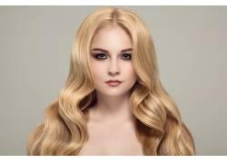 美丽的金发美女摄影