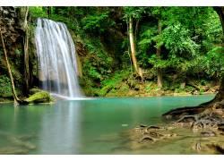 唯美瀑布美景摄影