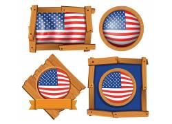 美国旗帜图案背景图片