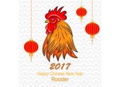 公鸡新年海报