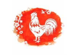 公鸡新年海报背景