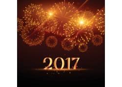 烟花背景2017新年海报
