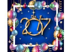 圣诞吊饰2017新年海报
