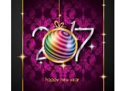 紫色2017圣诞海报设计