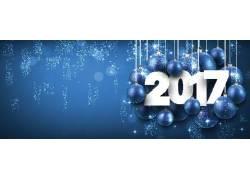 蓝色2017圣诞海报
