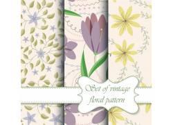 鲜花绿叶背景设计