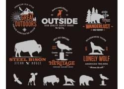 动物英文字母标志