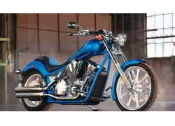 蓝色摩托车高清壁纸
