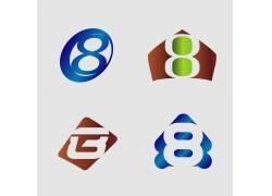 几何数字8标志