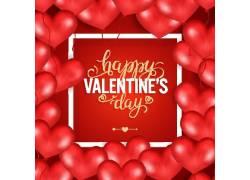 红色爱心气球情人节海报图片