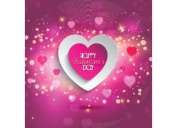 紫色爱心情人节海报图片
