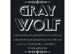 立体英文字母字体