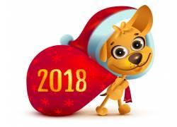创意2018狗年卡通海报