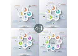 立体圆环彩色图表