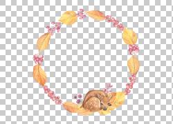 秋季麋鹿花环图片