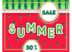 夏季促销边框背景