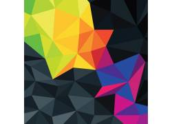 彩色晶格立体