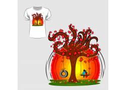 梦幻游乐园T恤印花设计