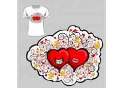 爱情大脑T恤印花设计