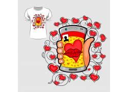 自拍之吻T恤印花设计