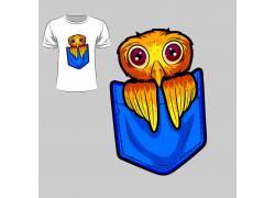 包袋卡通鸟T恤印花设计