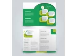 简约绿色几何设计感折页图片