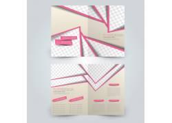 简约粉色几何设计感折页图片