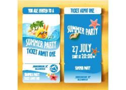 夏天蓝色动物主题海边度假广告