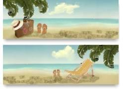 夏季海边沙滩