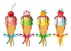 夏日美味冰淇淋素材